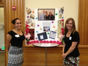Lauren Arce (l), a peace studies major at San Diego City College, with Katie Zanoni (r)