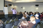 David Smith presenting to students at the College of Southern Maryland
