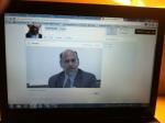 David J. Smith speaking via Livestream at Cerritos College