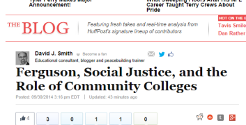 Ferguson  Social Justice  and the Role of Community Colleges David J. Smith