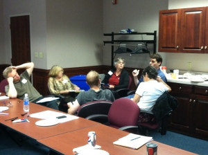 Bridgewater College faculty engaged in dialogue