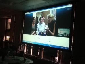 Skyping with the producer and actors from Beyond the Divide