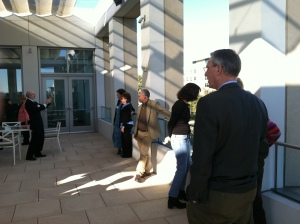 Visiting the USIP terrace with a great view of DC