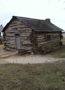Replica of home of Laura Ingalls Wilder, who lived here 1869-1871