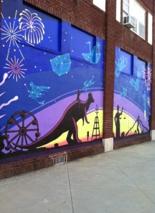 Mural from downtown Independence, Kansas