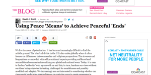 Using Peace  Means  to Achieve Peaceful  Ends    David J. Smith