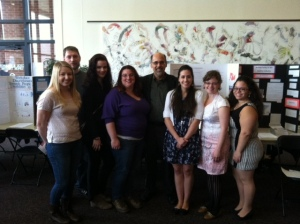 Political science students and projects at NCC Peace Conference