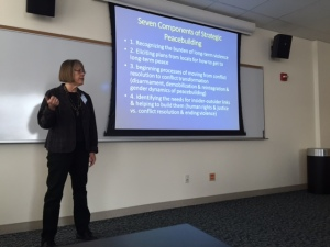 NIU's Susan Russell talks about peacebuilding
