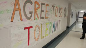 Students were asked to commit to tolerance