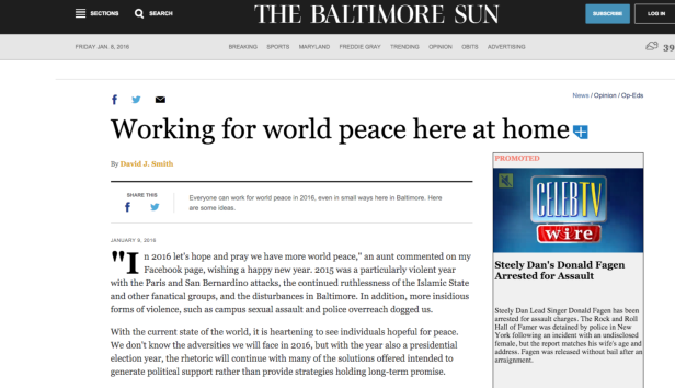 Working for wold peace here at home   Baltimore Sun.png