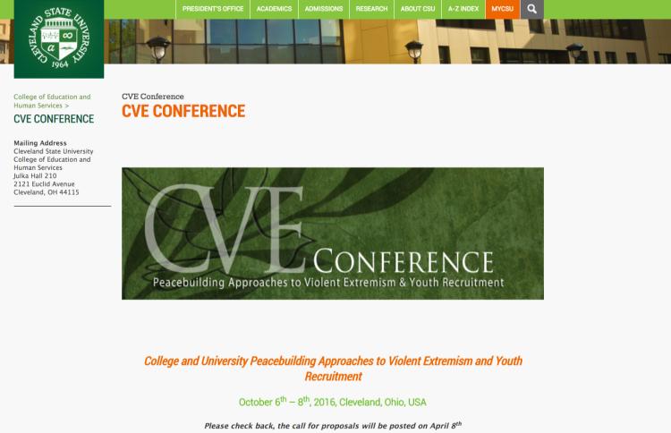 CVE Conference   Cleveland State University